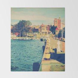 Harbor At Marquette Michigan Throw Blanket