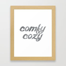 comfy cozy Framed Art Print
