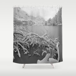 Wintry Lake Bohinj Shower Curtain