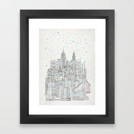 Winter in New York Framed Art Print