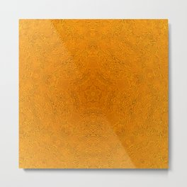 Gold Pentagon Metal Print
