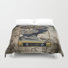 Gear Head Custom Choppers Duvet Cover