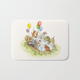 Birthday Party Picnic Bath Mat