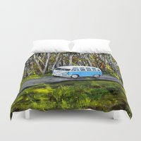 vw Duvet Covers featuring VW Bus by ThisArtToBeYours