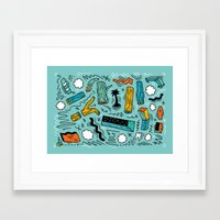 woods Framed Art Prints featuring Woods by Maxime Roy