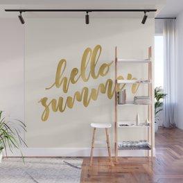 Hello Summer ~ Metallic Gold Wall Mural