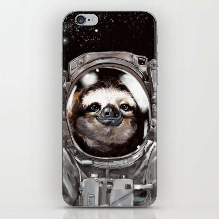 Astronaut Sloth Selfie iPhone Skin