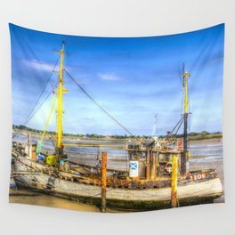 "Heybridge Basin Boat "" The Ranger "" Wall Tapestry"