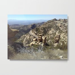 Road to the Desert Mountain Metal Print