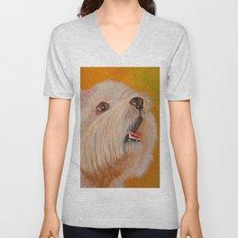 Westhighland White Terrier Portrait Unisex V-Neck