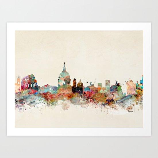 rome italy skyline Art Print