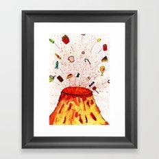 Desserts Erupt~~ Framed Art Print