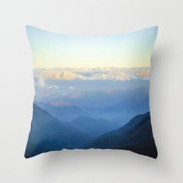 Clouds at eye level  Throw Pillow