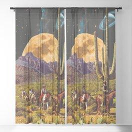 Space Cowboys Sheer Curtain