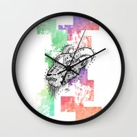goat Wall Clocks featuring Goat  by LSjoberg