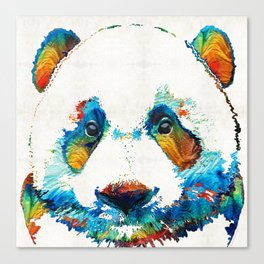 Colorful Panda Bear Art By Sharon Cummings Canvas Print