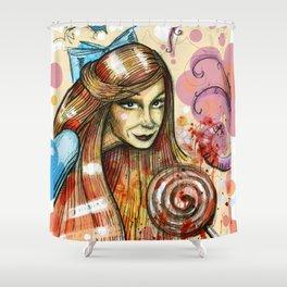 Lollipop girl Shower Curtain