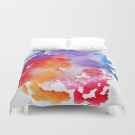 Vivid - abstract painting with pink, purple, red, orange, blue colors that pop Duvet Cover