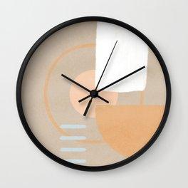 Simple shapes boho minimalist design Wall Clock