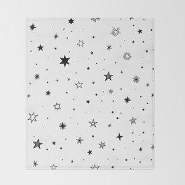 Doodle Stars Throw Blanket