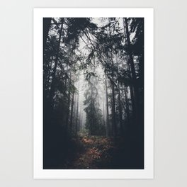 Dark paths Art Print