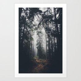 Dark paths Art Print