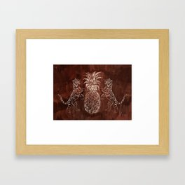 Bandipur (on Cocoa Bean Brown) Framed Art Print
