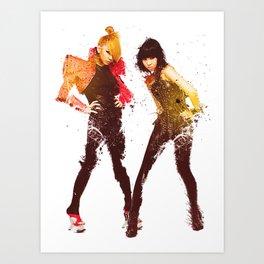2NE1 CL & Minzy Art Print