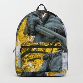 West Virginia Mascot Statue Fall Print Backpack