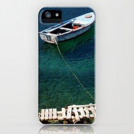 Greek boat iPhone Case