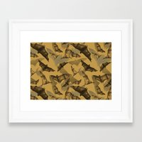 bats Framed Art Prints featuring Bats by Deborah Panesar Illustration
