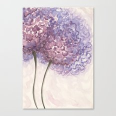 Purple Flower Watercolor Canvas Print
