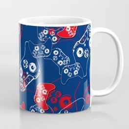 Video Game Red White & Blue 2 Coffee Mug