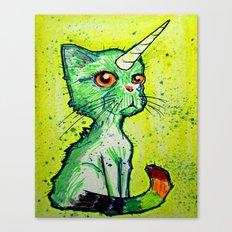 Unicorn Cat Canvas Print