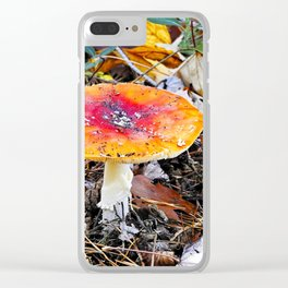 Amanita muscaria Clear iPhone Case