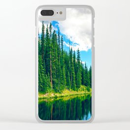 Tall Pines MIV Clear iPhone Case