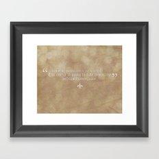Imogen Cunningham Quote Framed Art Print