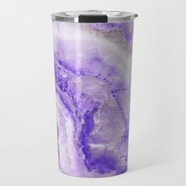 Ultra Violet and Gray Marble Agate Quartz Travel Mug