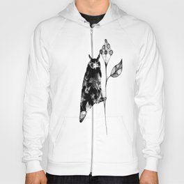 Owl and the flower Hoody
