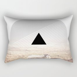 Sheep - triangle graphic Rectangular Pillow