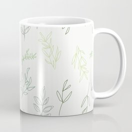 Falling Foliage - in greens Coffee Mug