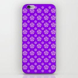 Violet White Pentacle Pattern iPhone Skin