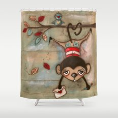 I Love You, MOnkey Shower Curtain