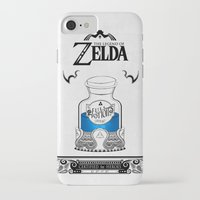 majora iPhone & iPod Cases featuring Zelda legend - Blue potion  by Art & Be