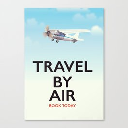 Travel By Air travel poster Canvas Print
