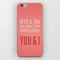 lesbian iPhone & iPod Skins featuring The Greatest Lesbian Couples by ElekTwick