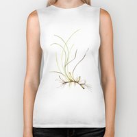 marina Biker Tanks featuring Zostera marina by Sandra Ovono - Watercolor Art Studio