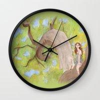 hunter Wall Clocks featuring Hunter by ashtoledo