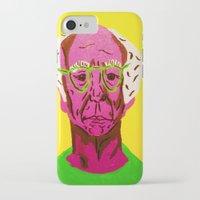 larry david iPhone & iPod Cases featuring Larry David 3 by Alyssa Underwood Contemporary Art