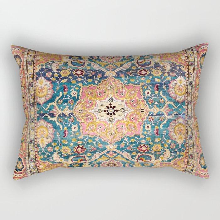 Amritsar Punjab North Indian Rug Print Rectangular Pillow